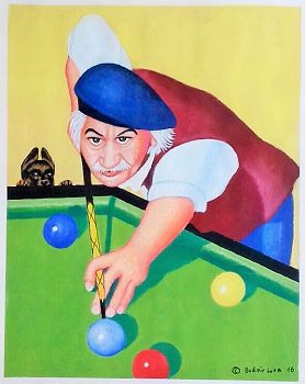 Budimir Luka the billiard player introduced by Sandra Sachsenhauser